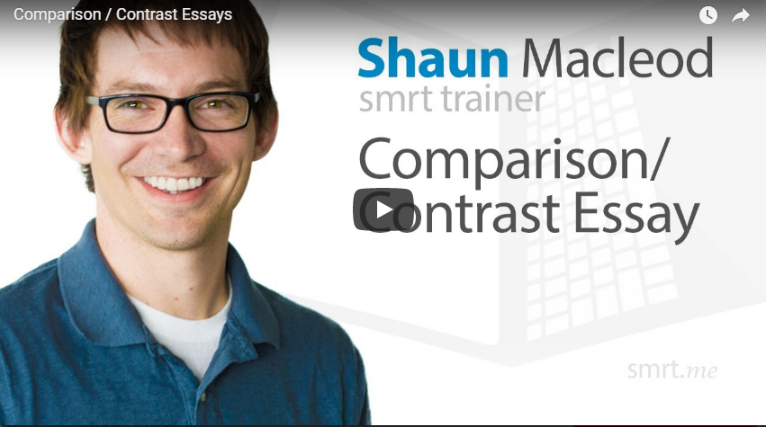 Comparison and contrast essay tips